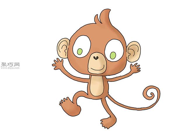 卡通猴子画法步骤 16