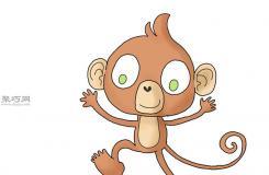 卡通猴子画法步骤 一起学如何画猴子