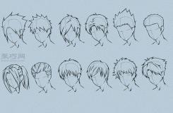 男性动画人物画法教程 教你怎么画动漫人物的头发