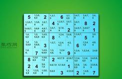如何解复杂数独 教你解数独步骤