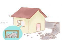 在地震时室内求生技巧:卧倒,寻找掩护,抓牢