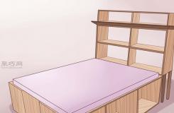 怎么diy单人船长床 打造木质床架图解教程