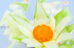 如何雕刻黄瓜花 雕刻果蔬图解教程
