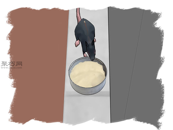 熟石膏和速食土豆泥做老鼠药图解教程 14