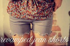 旧牛仔裤改造花边短裤方法 教你四步DIY牛仔裤变短裤