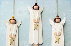 雪糕棍手工制作大全 冰棒棍、雪糕棍变废为宝天使挂饰