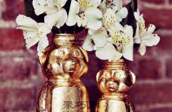 废旧饮料瓶怎么做鎏金花瓶 饮料瓶手工制作大全