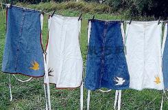 怎样用废旧牛仔裤改造时尚的牛仔围裙
