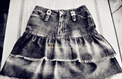 牛仔裤diy复古风多层短裙教程 教你牛仔蛋糕裙的做法