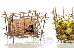 一次性筷子手工艺品 DIY果篮、收纳筐