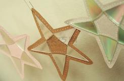 手工制作星星教程教你废旧光盘如何diy五角星饰品