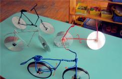 光盘创意手工制作小动物、玩具、日用品 光盘废物利用作品集