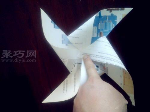 小时候手工纸风车的做法