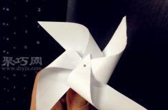 纸做的风车的制作方法 来一起做一个纸小风车