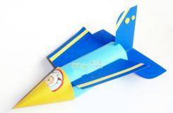 卷纸筒废物利用diy客机 纸筒手工改造飞机教程