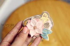 DIY头花的做法图解 教你如何做手工布艺头饰