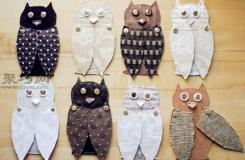DIY创意墙面装饰 猫头鹰布艺墙饰制作教程