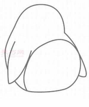 胖企鹅简笔画第3步