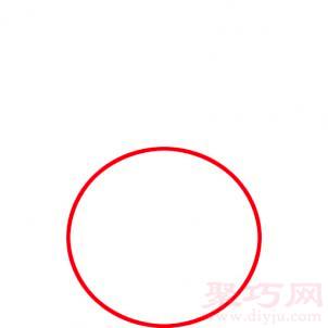 樱桃简笔画第1步