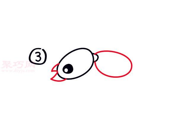 蚁后简笔画第3步