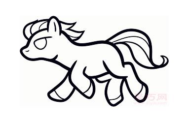 儿童简笔画野马的画法 教你如何画野马简笔画