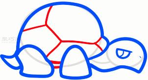 乌龟简笔画第5步