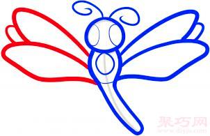 蜻蜓简笔画第5步
