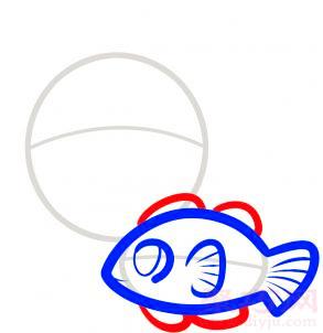 热带鱼简笔画第4步