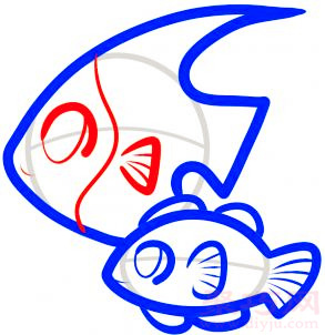 热带鱼简笔画第6步