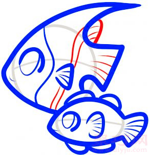 热带鱼简笔画第7步