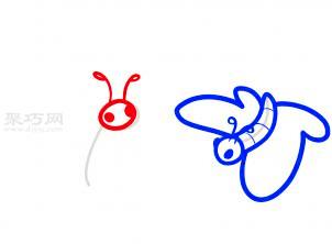两只蝴蝶简笔画第5步