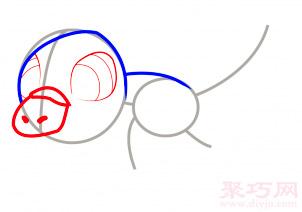 鸭嘴兽简笔画第3步