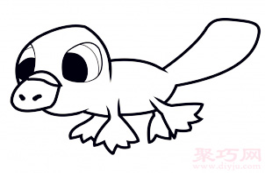 儿童简笔画鸭嘴兽的画法 教你如何画鸭嘴兽简笔画