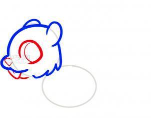 松鼠简笔画第3步