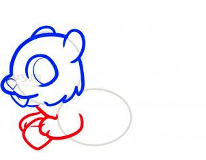 松鼠简笔画第4步