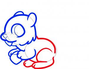 松鼠简笔画第5步