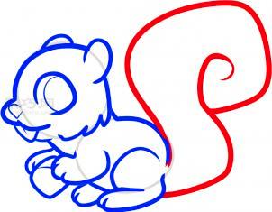 松鼠简笔画第6步