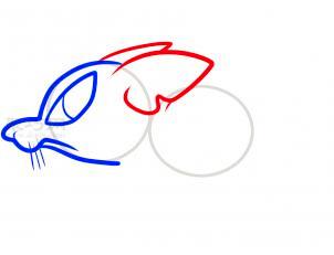 鼠简笔画第4步