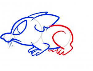 鼠简笔画第6步
