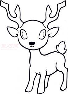 儿童简笔画鹿的画法 教你如何画鹿简笔画