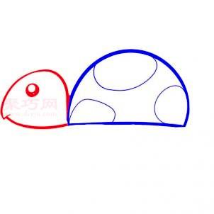 幼儿小乌龟简笔画第2步