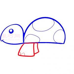幼儿小乌龟简笔画第3步