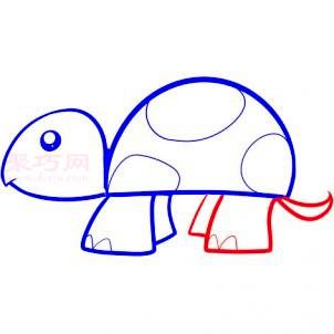 幼儿小乌龟简笔画第4步