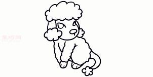 儿童简笔画贵宾犬的画法 教你如何画贵宾犬简笔画