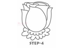儿童简笔画玫瑰花的画法 教你怎么画玫瑰花简笔画