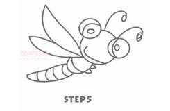 大眼睛蜻蜓的画法 教你如何画大眼睛蜻蜓简笔画