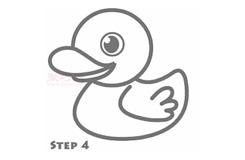 简笔画小黄鸭的画法 教你如何画小黄鸭简笔画