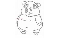 儿童简笔画猪八戒的画法 教你如何画猪八戒简笔画