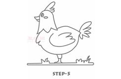 儿童简笔画公鸡的画法 教你怎么画公鸡简笔画
