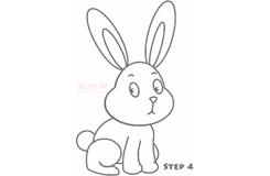 简易画小白兔的步骤 画小白兔的简笔画图片